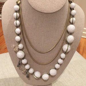 Anthropologie multistrand statement necklace
